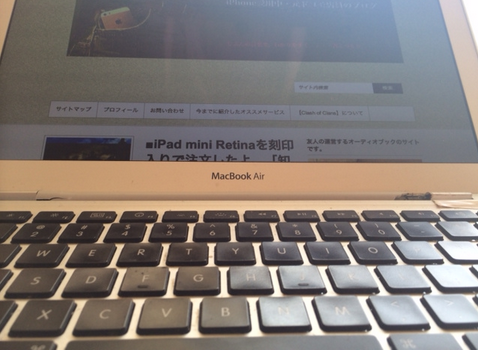 mac book air USキーボード