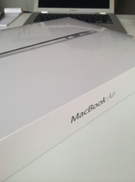 mac book air 開封