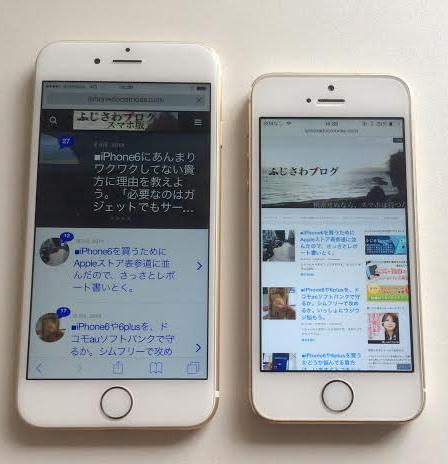 iPhone6 iPhone5s 比較