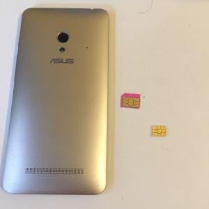 Zenfone micro sim nanosim