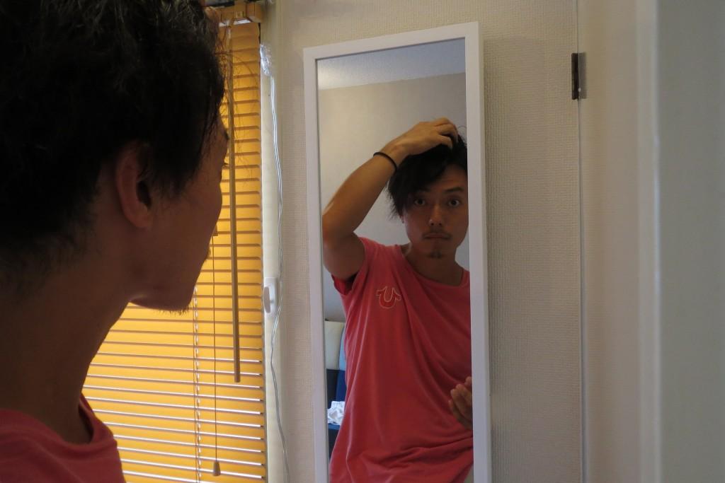 トップ、前髪。